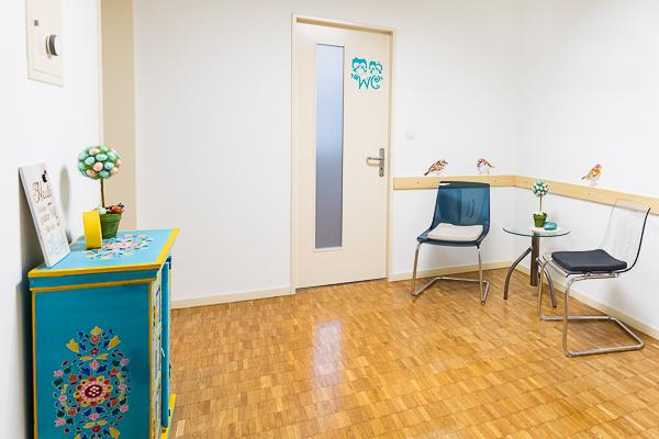 Wartezimmer der Physiotherapie PhysioCorpoCura Huber in Mumpf